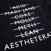 AESTHETERATI DOPE DEALER Premium T-Shirt Behind Detail Shot